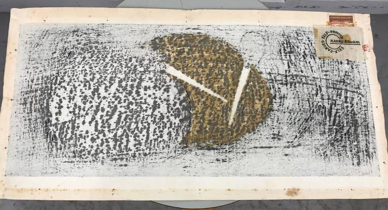 "Japanese Woodblock Print by Kaoru Kawano ""Sacred Crane D"" For Sale 1"