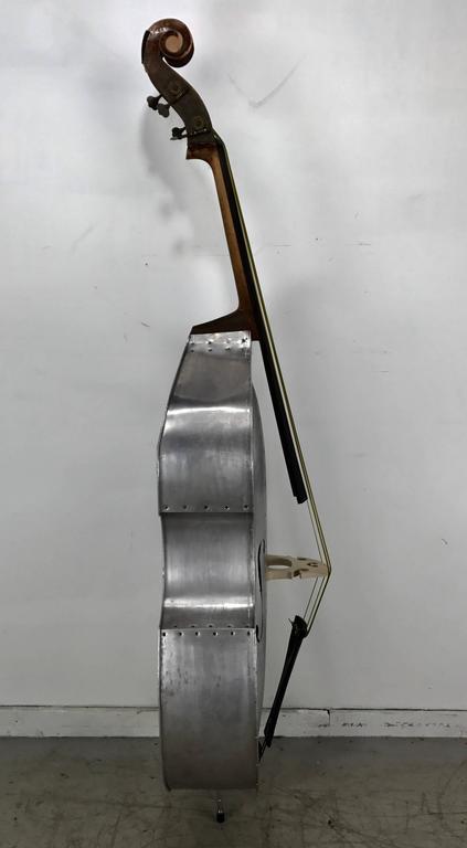 American Rare Pfretzschner Aluminum Double Bass, Buffalo Ny, Art Deco, Machine Age For Sale