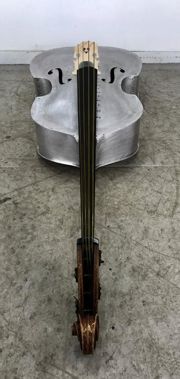 Rare Pfretzschner Aluminum Double Bass, Buffalo Ny, Art Deco, Machine Age For Sale 2