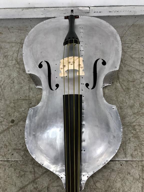 Rare Pfretzschner Aluminum Double Bass, Buffalo Ny, Art Deco, Machine Age For Sale 3