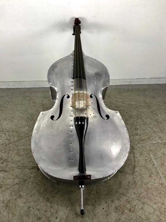 Rare Pfretzschner Aluminum Double Bass, Buffalo Ny, Art Deco, Machine Age For Sale 4