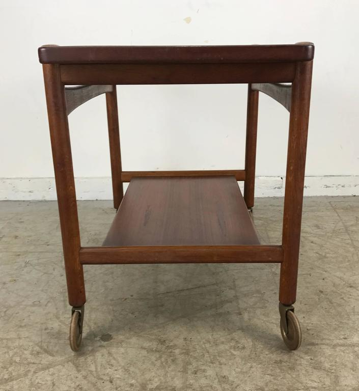 Danish Hans Wegner Bar, Serving Cart, Removable Tray, Made in Denmark Andreas Tuck For Sale