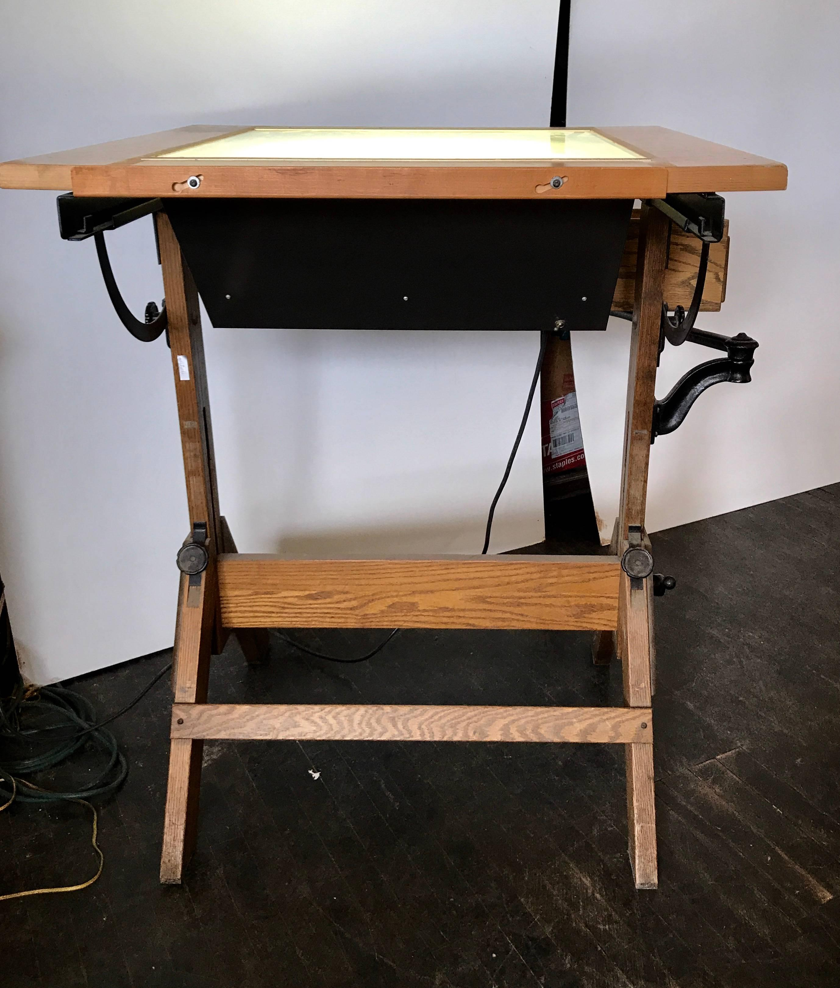 lightbox iron master f and drafting drawer cast hamilton table id img industrial antique furniture rare work at oak tables