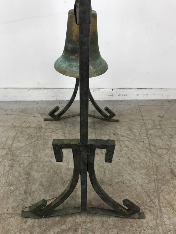 Bronze Three Bell Freestanding Garden Sculpture James