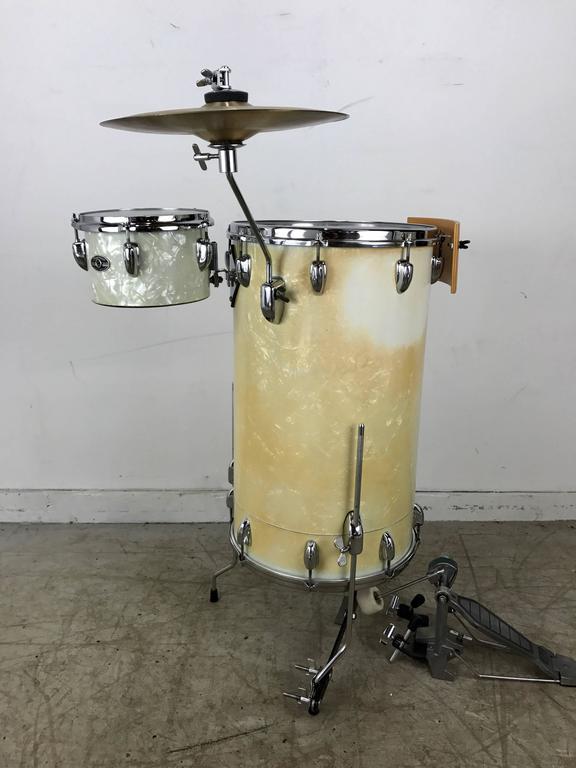 1960s slingerland white pearl cocktail kit drum set for sale at 1stdibs. Black Bedroom Furniture Sets. Home Design Ideas