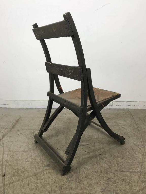 Early Sucsessionist Jugendstil Folding Chair in Richard Riemerschmid Manner 4