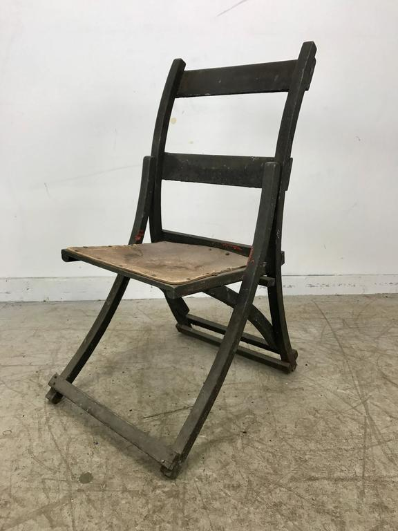 Early Sucsessionist Jugendstil Folding Chair in Richard Riemerschmid Manner 2