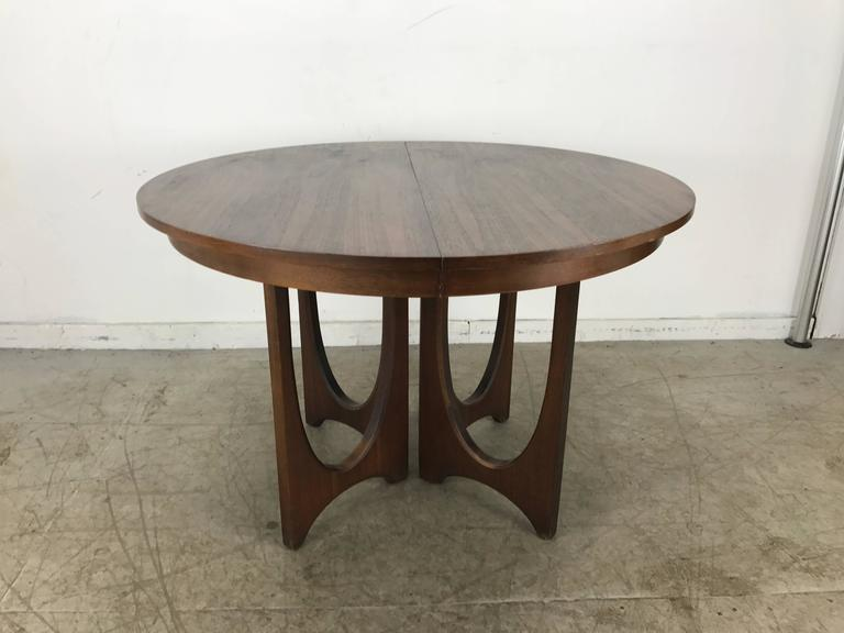 Mid Century Modern Expandable Walnut Sculptural Dining