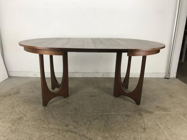 Mid-Century Modern Expandable Walnut Sculptural Dining