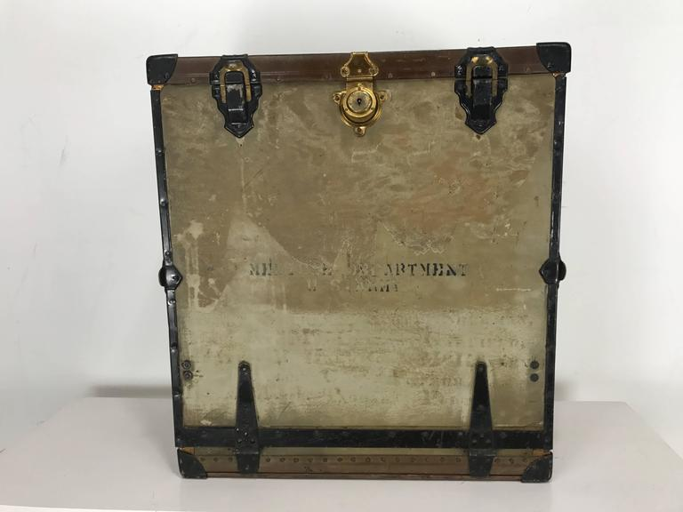 American Unusual Portable Ww1 Field Desk Suitcase, Multi-Slots /Drawer by Rogers Madison For Sale