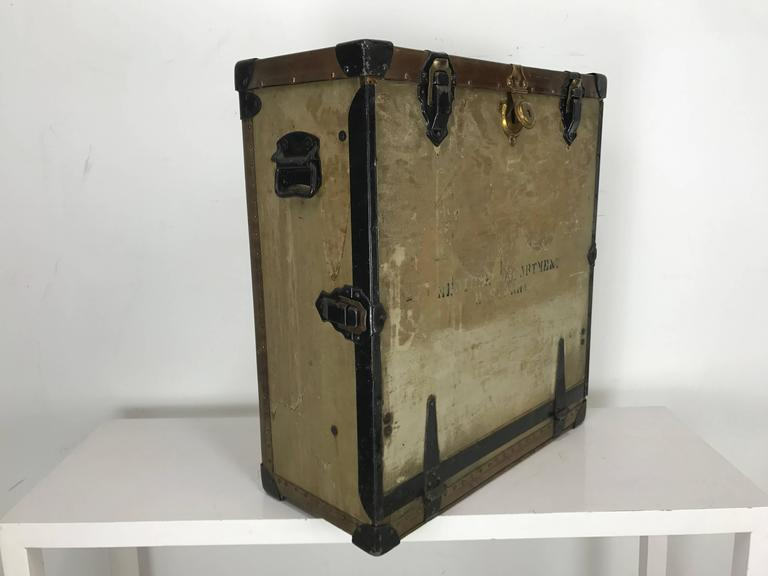 Unusual Portable Ww1 Field Desk Suitcase, Multi-Slots /Drawer by Rogers Madison In Good Condition For Sale In Buffalo, NY