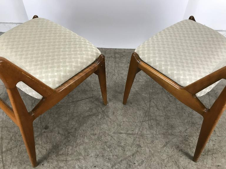20th Century Set of Four Solid Sculptural Teak Dining Chairs by Arne Vodder, Denmark For Sale