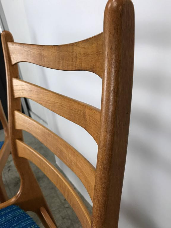 Danish Set of Eight Sculptural Dining Chairs by Poul Volther, Frem Rojle, Denmark For Sale