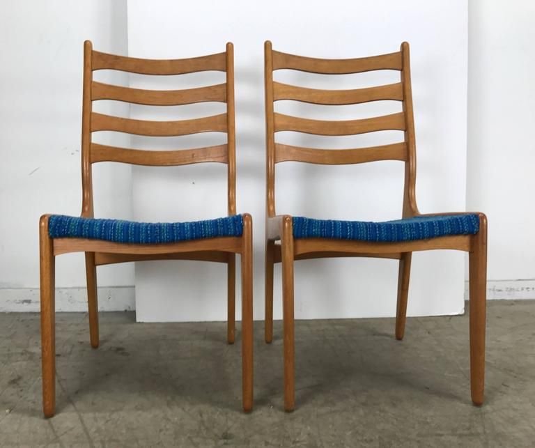 Set of Eight Sculptural Dining Chairs by Poul Volther, Frem Rojle, Denmark In Good Condition For Sale In Buffalo, NY