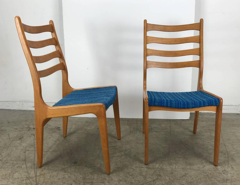 20th Century Set of Eight Sculptural Dining Chairs by Poul Volther, Frem Rojle, Denmark For Sale
