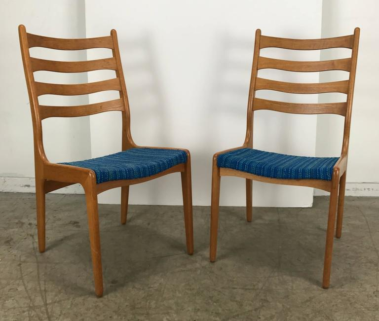 Fabric Set of Eight Sculptural Dining Chairs by Poul Volther, Frem Rojle, Denmark For Sale