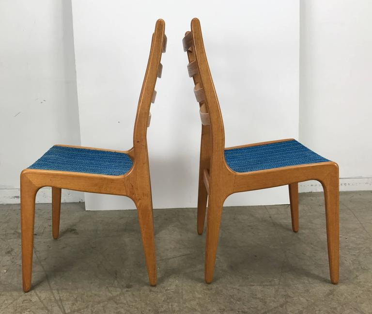 Set of Eight Sculptural Dining Chairs by Poul Volther, Frem Rojle, Denmark For Sale 1