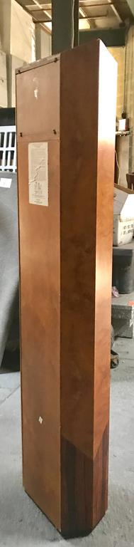 20th Century Rare George Nelson Howard Miller Burl and Rosewood Grandfather Clock For Sale