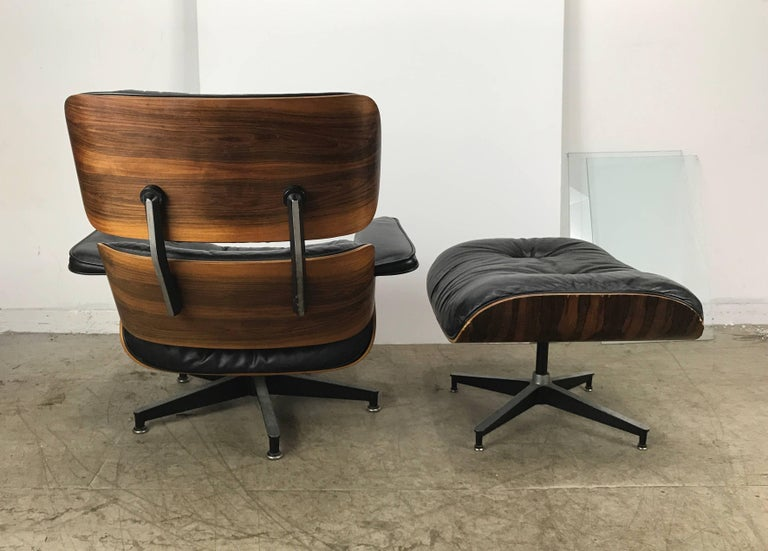American Early Classic Mid-Century Modern 670/671 Eames Lounge and Ottoman Herman Miller