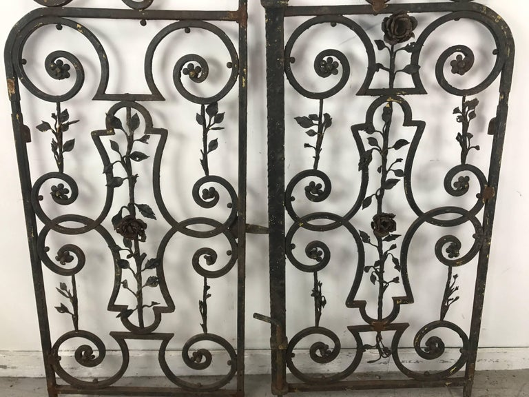 Arts and Crafts Arts & Crafts Decorative Wrought Iron Gates For Sale