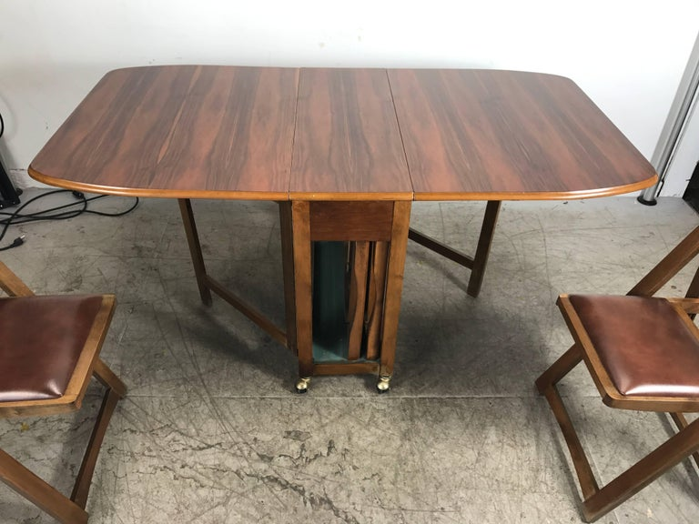 Modernist Suitcase Dining Table Fold Down Compact Self