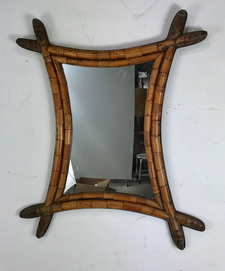 Early and unusual asian style bamboo mirror for sale at for Asian style mirror