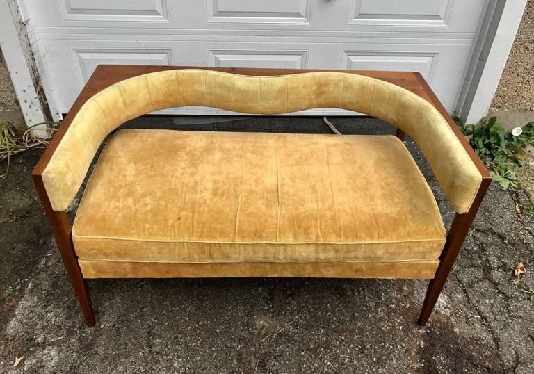 Rare Modernist Settee Designed By John Van Koert Drexel