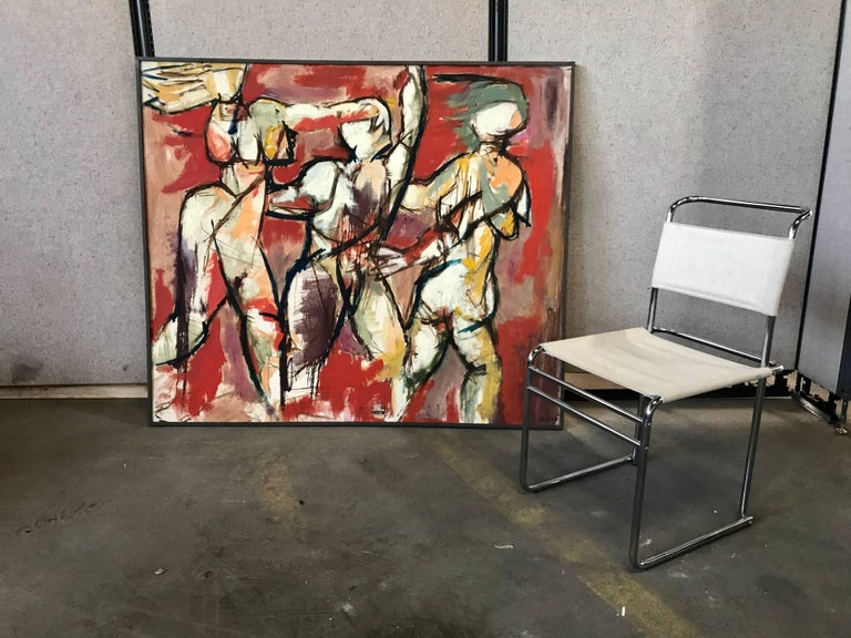 Large Modern Abstract Oil Painting Buffalo N Y Artist