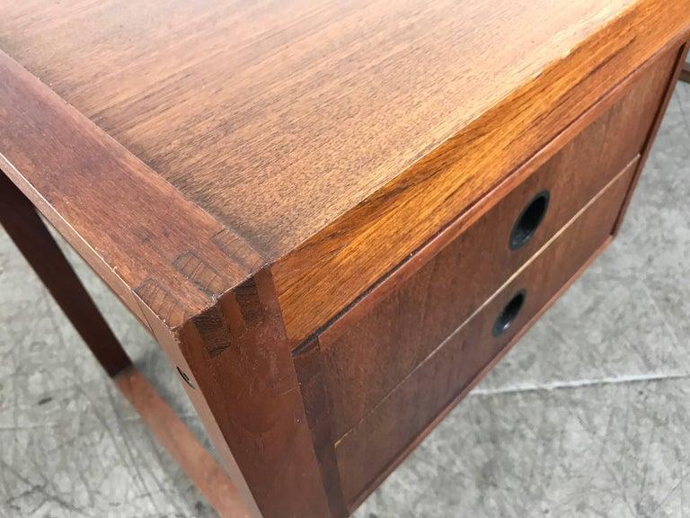 Danish Modern Teak Desk by Dansk, Denmark In Good Condition For Sale In Buffalo, NY