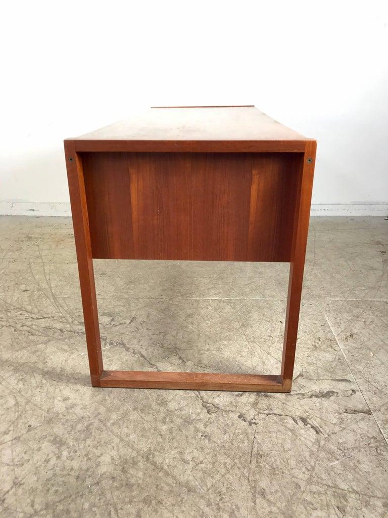 Wood Danish Modern Teak Desk by Dansk, Denmark For Sale