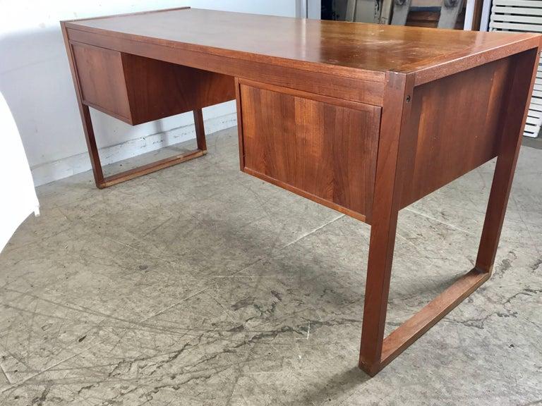 Danish Modern Teak Desk by Dansk, Denmark For Sale 1
