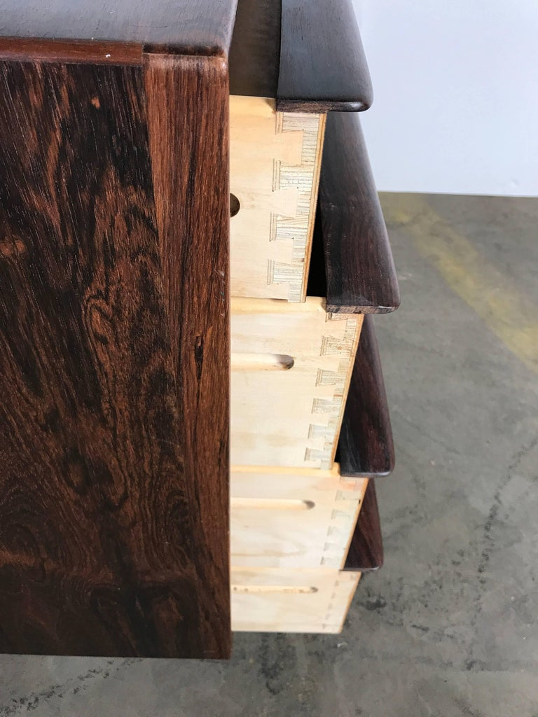 Stunning Rosewood Falster Four-Drawer Chest Dresser Made in Denmark For Sale 2
