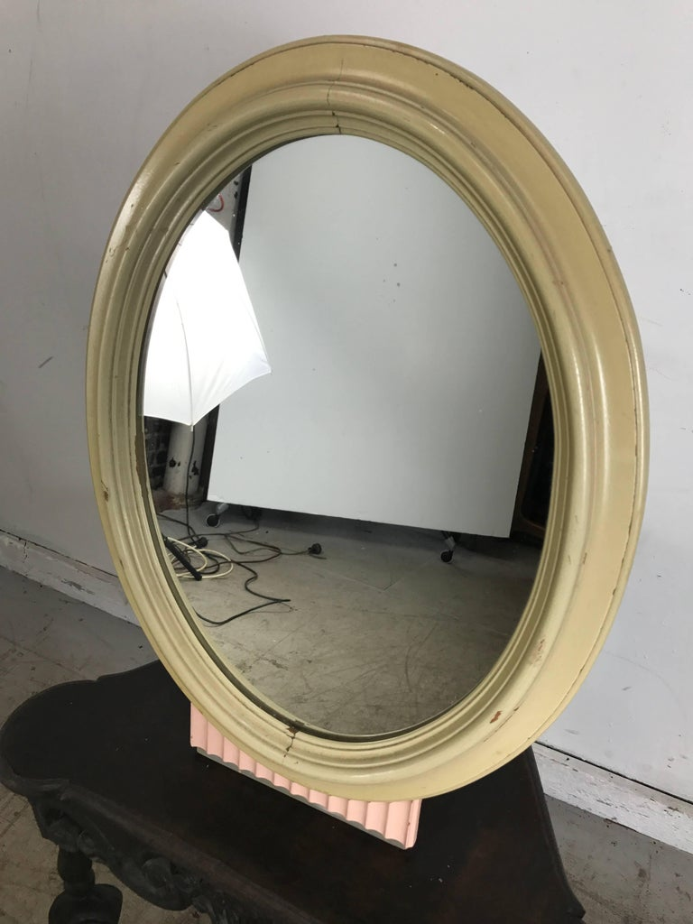 Classic American Art Deco Dresser Mirror, Kittinger Furniture In Good Condition For Sale In Buffalo, NY