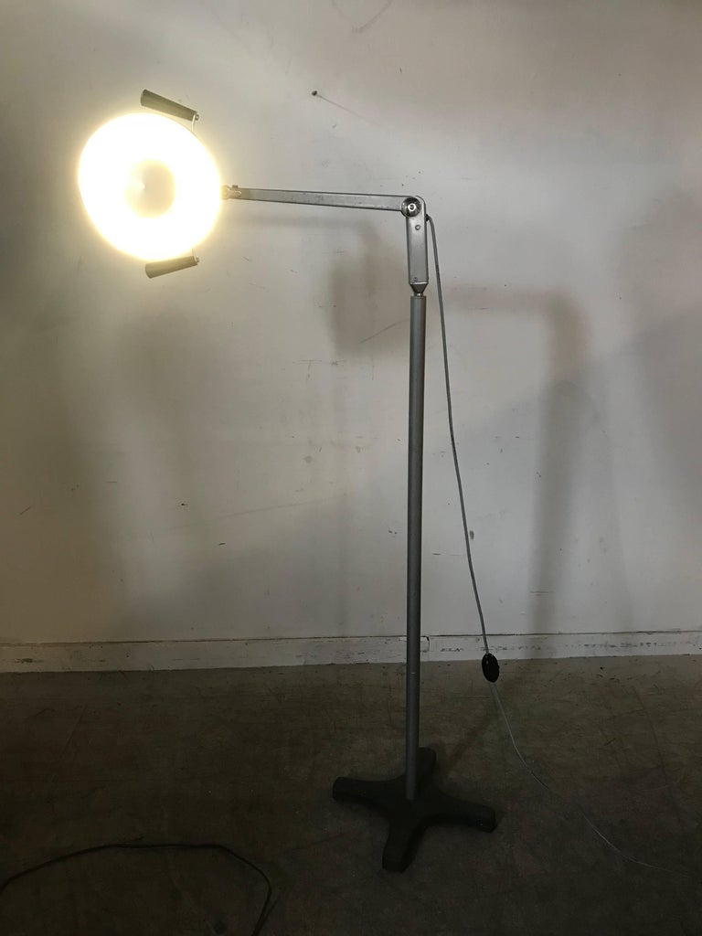 20th Century Midcentury Diminutive Surgical Floor Lamp by Burton For Sale