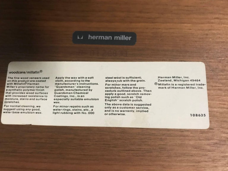Elusive Modernist Action Office Desk or Table by George Nelson for Herman Miller For Sale 3