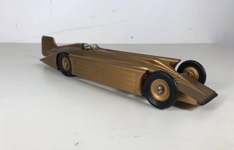 1934 Kingsbury Golden Arrow Art Deco Futurist Steel Race