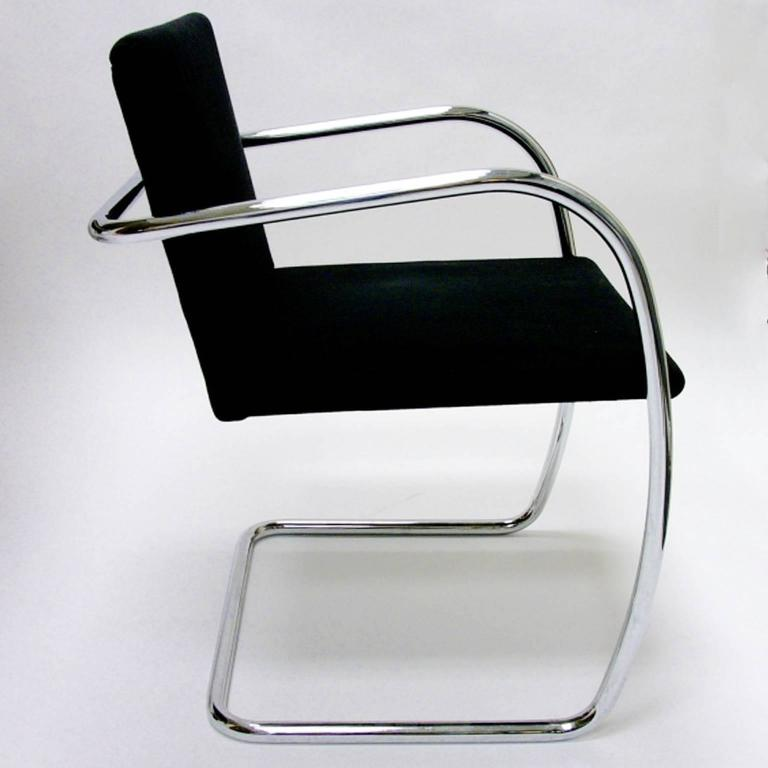 Mies Brno Chair set of eight mies van der rohe tubular brno chairsknoll studio