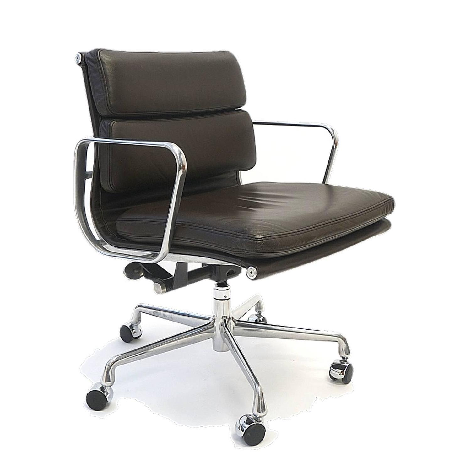 ten charles and ray eames soft pad chairs in leather by