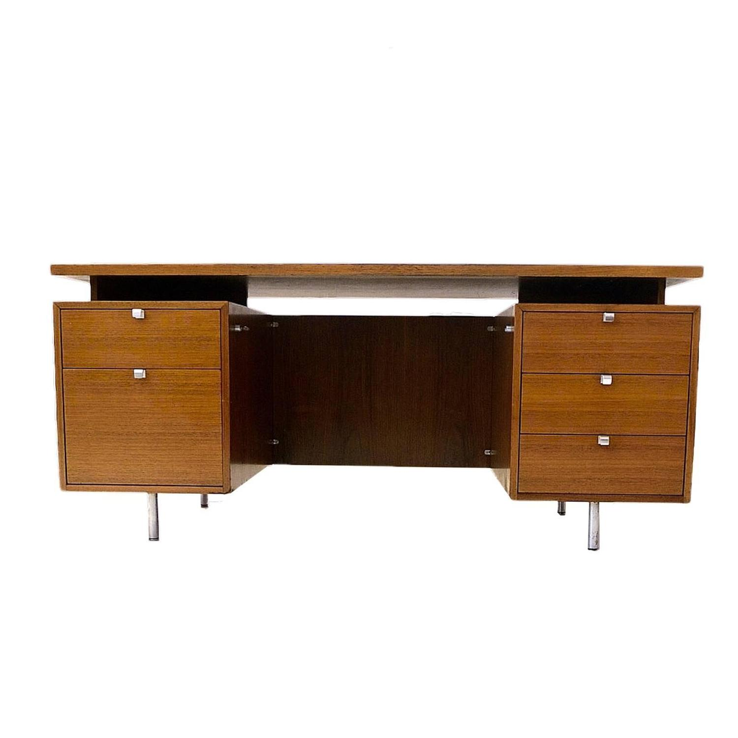 Walnut Executive Desk by George Nelson for Herman Miller