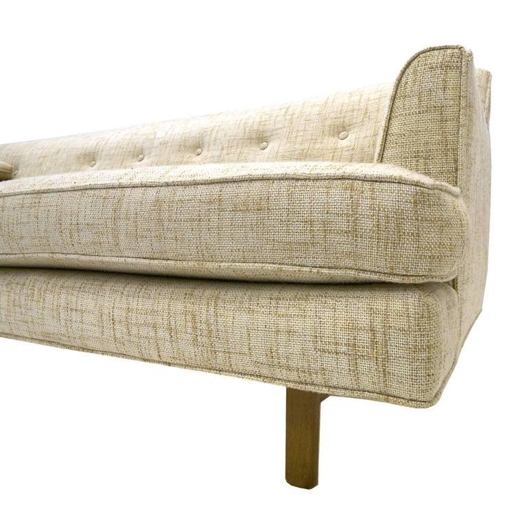 Sleek Low Profile Edward Wormley For Dunbar Tweed Sofa At 1stdibs