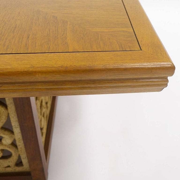 Mid-Century Modern Rare Widdicomb Walnut Coffee or Cocktail Table with Decorative Base For Sale