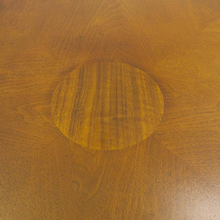American Rare Widdicomb Walnut Coffee or Cocktail Table with Decorative Base For Sale