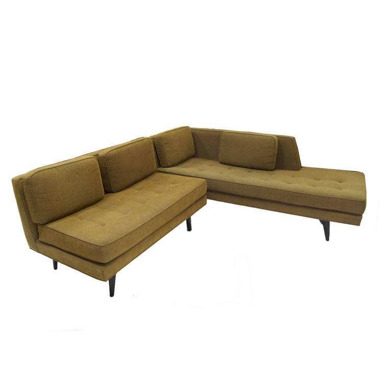 Rare Edward Wormley for Dunbar Sectional Sofa For Sale