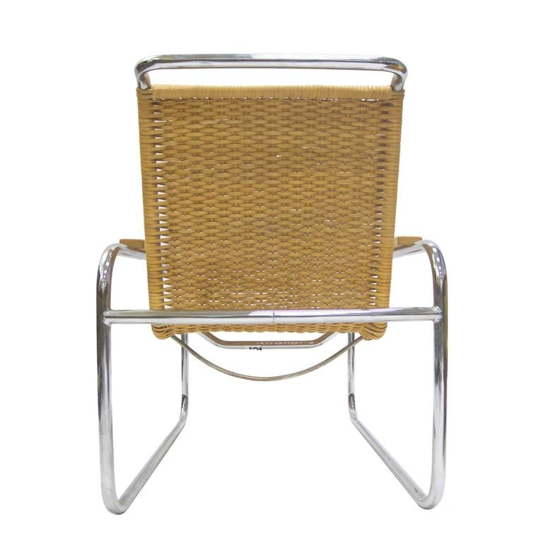 Marcel Breuer B 35 Lounge Chair For Thonet In Chrome And