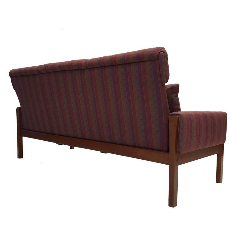Danish Rare Hans Wegner Teak Frame Sofa for A.P. Stolen High Back Version For Sale