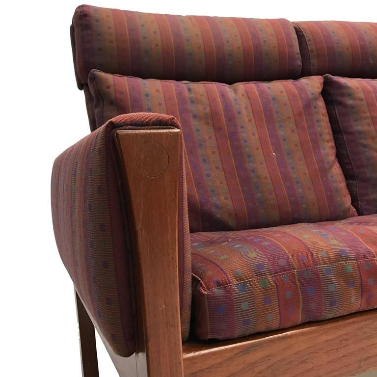 1960s Rare Hans Wegner Teak Frame Sofa for A.P. Stolen High Back Version For Sale