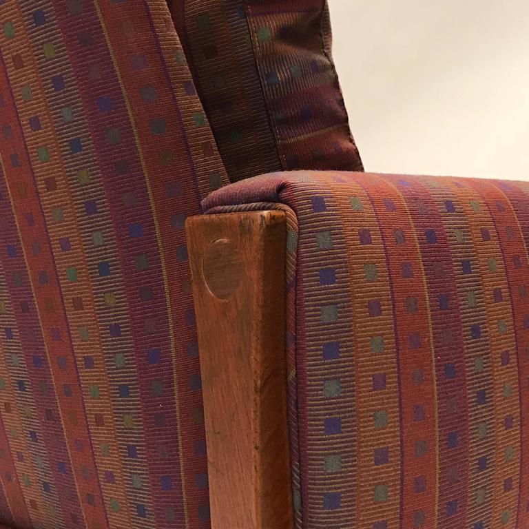 Rare Hans Wegner Teak Frame Sofa for A.P. Stolen High Back Version For Sale 1