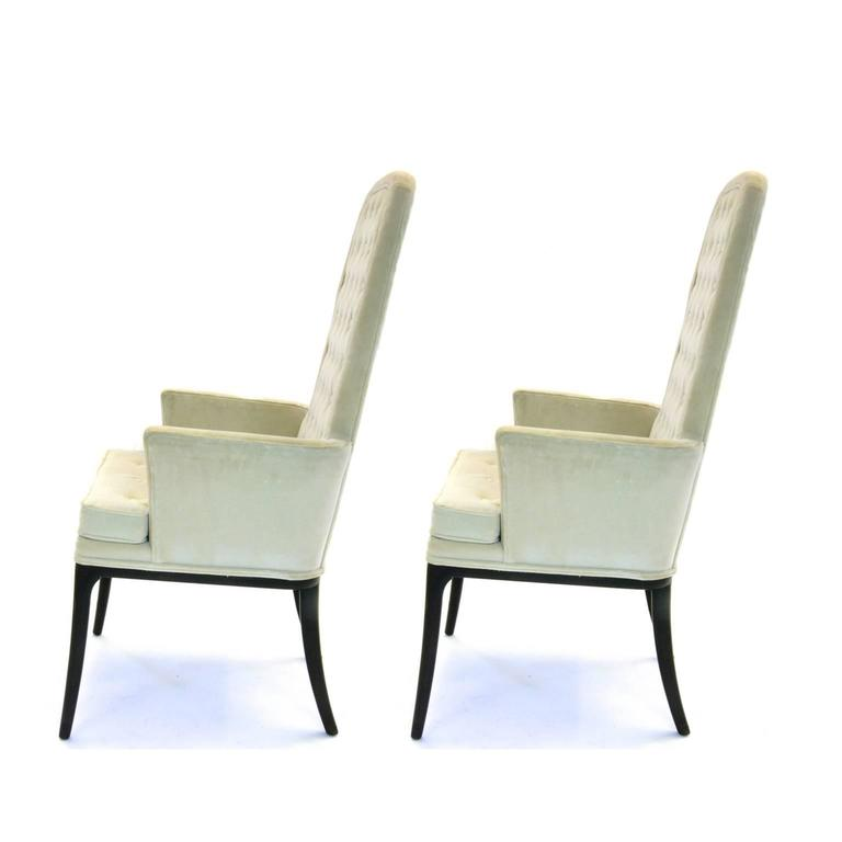 Mid-Century Modern Stunning Pair of Original Tufted Erwin-Lambeth for Tomlinson Armchairs For Sale