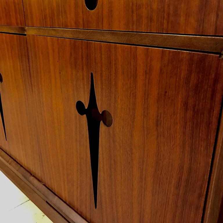 Decorative Midcentury Edmond J. Spence Stilted Walnut Credenza/Sideboard 5