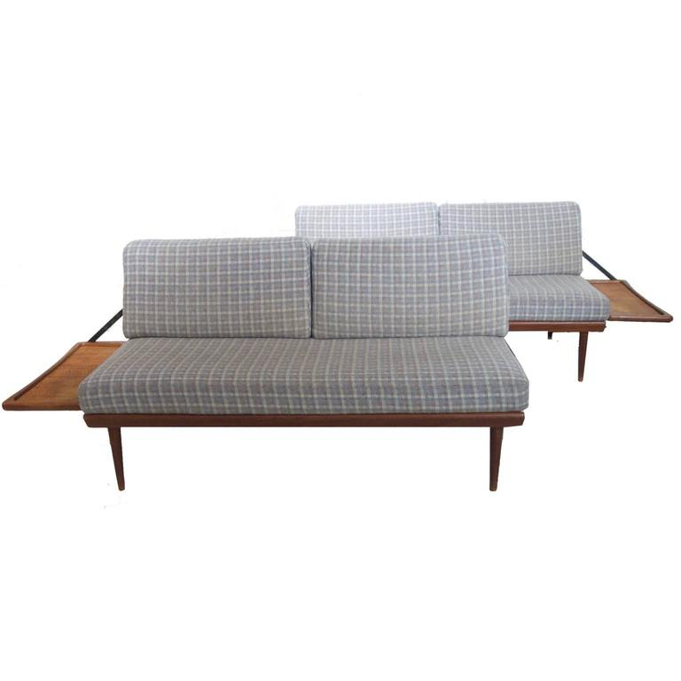 Two Piece Convertible Sofa Daybed By Peter Hvidt U0026 Olga Molgaard By France  U0026 Son